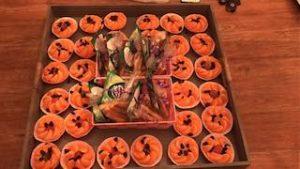 traktatie met mandarijntjes