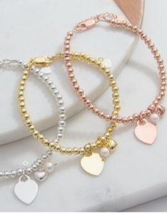 armband met naambedel in 3 kleuren leverbaar