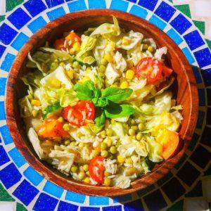 BBQ recept rijstsalade
