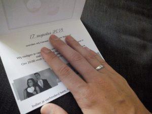 trouwblog de trouwkaart van Eva V