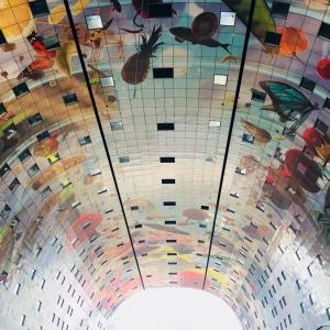 Weekendje weg in Rotterdam markthal plafond