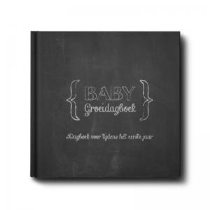babygroeiboek invulboek voor het eerste jaar in zwart