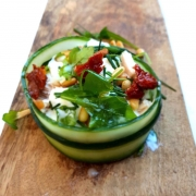 koolhydraatarme salade met kip kusterug