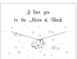 cadeaudoosje I love you to the moon & back ketting kusterug