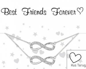 cadeaudoosje met sieraad best friends forever kusterug