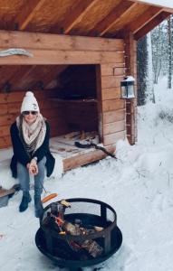 vakantiehuis huren in lapland bbq huisje