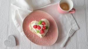 valentijnsrecept meringues met frambozen