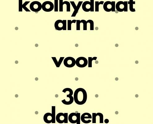 recepten koolhydraatarm voor 30 dagen.