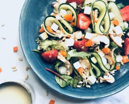 salade met aardbeien Vrouwwatbenjemooi