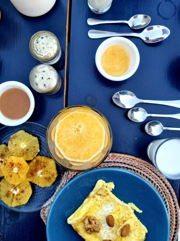 Marrakech met tieners ontbijt Zwin Zwin boetiekhotel