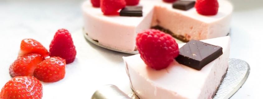 koolhydraatarme cheesecake taart