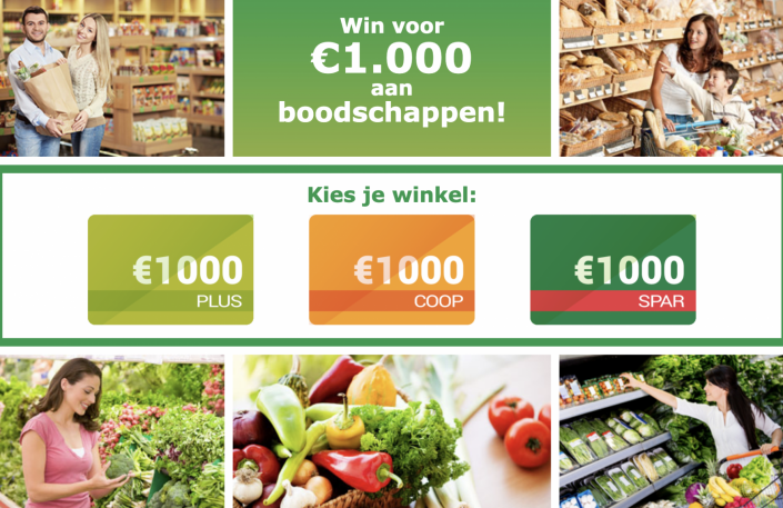 gratis shoppen in een supermarkt